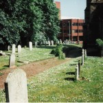 Old path through churchyard towards Rampant Horse St.