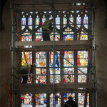 East window re-installed