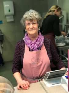 Picture of cafe volunteer